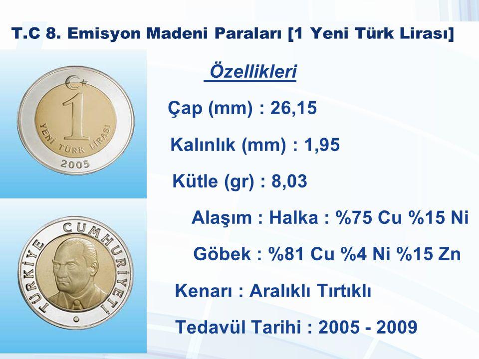 T.C 8. Emisyon Madeni Paraları [1 Yeni Türk Lirası]